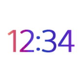 Digital Clock and Weather icon